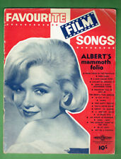 #T74.  MARYLIN MONROE ON COVER OF FAVOURITE FILM SONGS SHEET MUSIC BOOKLET