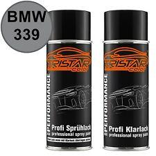 Autolack Spraydosen Set BMW 339 Aspensilber Int. Basislack Klarlack Sprühdose