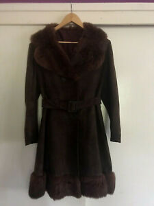 Stephen Dattner Genuine Suede Fur Boho 70 S Coat