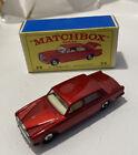 Matchbox 1-75 Regular Wheels #24 Rolls Royce Silver Shadow In very Minty Box