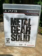METAL GEAR SOLID The Legacy Collection PS3 Sony PlayStation 3 SEALED Video Game