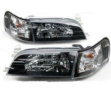 1-Pairs Front Crystal Black Face Head Light Lamp Corolla AE100 AE101 E100 Toyota