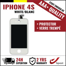 AAA+ LCD VITRE TACTILE SCHERM/ÉCRAN WHITE BLANC&VERRE TREMPÉ FOR IPHONE 4S