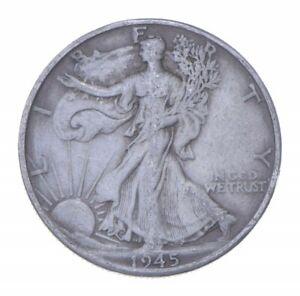 Better 1945-D - US Walking Liberty 90% Silver Half Dollar Coin Set Break *608