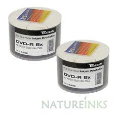 100 Traxdata Printable white Blank DVD-R 8x Discs 4.7GB Ritek G05 Tracked post