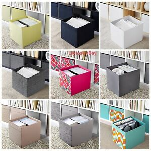 IKEA Drona Storage Box Folding Shelf Organiser Soft Fabric MultiColour Kallax