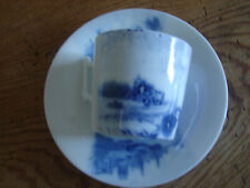 antike Tasse mit Untertasse, Blaumalerei, Blooker's Holland Cacao (2)