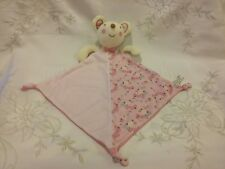 Next Pink Mouse Floral Comfort Blanket Blankie Doudou Excellent Condition