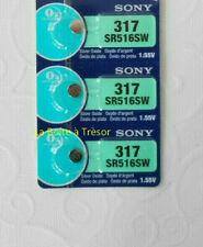 3 Piles SONY 317 - SR516SW - 1.55V Neuf