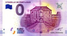 56 PORT-LOUIS Citadelle 2, 400 ans, N° de la 7ème, 2018, Billet 0 € Souvenir