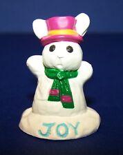 1991 Hallmark New Christmas Joy Snow Bunny Merry Miniature Never Used Qfm1749
