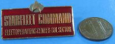 PIN enamel vtg '88 Star Trek TNG -STARFLEET COMMAND Fleet Operations SOL - RED