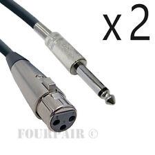 Cable de micr/ófono NANYI Cables XLR a XLR Cable XLR de 3 pines Cable de micr/ófono macho a macho Cable DMX con cobre libre de ox/ígeno 0.5 metros // 1.6 pies