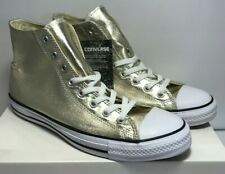 Converse Mens 11 Womens 13 Unisex Chuck Taylor Light Gold High Top Shoes 153178F