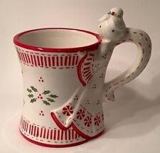 Temptations by Tara Coffee Mug Christmas Angel QVC 12 Ounces Red White Green