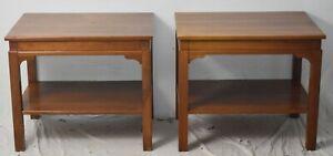Henkel Harris Virginia Galleries Mahogany Pair of End Tables Occasional Tables
