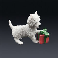 Resin West Highland Terrier dog Hand Painted simulation model Figurine Statue