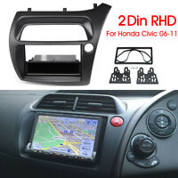 1 Or 2 Din Stereo Radio Fascia Panel Frame Plate Adapter For HONDA Civic 06-11