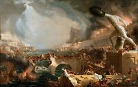1858 Course of Empire Destruction by Thomas Cole Old Masters  8x10 Print
