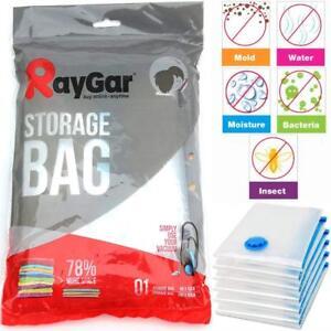 6 x Large Storage Vacuum Bags Space Saving Clothes Bedding Vac Sealed 80x100cm