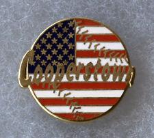 "Cooperstown New York Home Of Baseball Us Flag Ball 1"" Souvenir Pin Button"