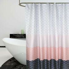 Waterproof Polyester Bathroom Shower Curtain Plain With Hooks Ring Extra Long SH