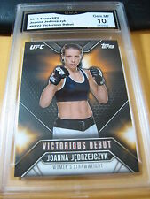 JOANNA JEDRZEJCZYK 2015 TOPPS UFC CHRONICLES VICTORIUS DEBUT # VD-22 GRADED 10