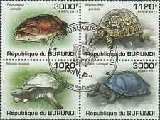 Timbres Reptiles Tortues Burundi 1249/52 o année 2011 lot 10782 - cote : 18 €