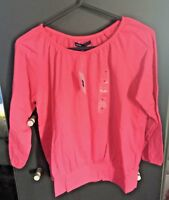 GAP Pretty Candy Pink 100% Cotton Peasant Style Top  - Size M / 8 years  BNWT