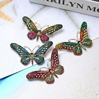 Fashion Butterfly Full Crystal Rhinestone Brooch Pin Women Costume Jewelry Gift