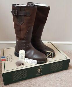 AIGLE PARFIELD FUR GTX GORETEX HUNTING COUNTRY MENS BROWN BOOTS UK 9 / EU 43