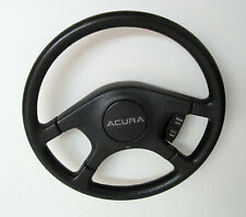 "STEERING WHEEL, black, 15"" dia., used, 2-cruise switches, 1989 Acura Integra"