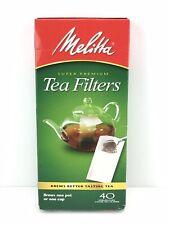 Melitta Super Premium Loose Leaf 40 Count Tea Paper Filters / Brews One Pot Cup