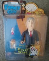 Family Guy Mayor Adam West Action Figure Series 3 Mezco Toy GREAT CONDITION 2005