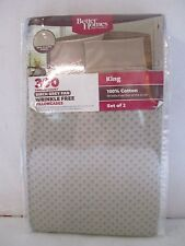 Better Homes & Gardens 300 TC Wrinkle Free King Pillowcase Set 100% Cotton~ NEW~