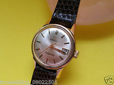 DAU Omega Ladymatic Seamaster Damen Lady Automatic Uhr Gold Pl 1960er & Datum