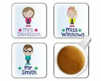 TEACHER Coaster PERSONALISED Teaching Assistant Apple End of term gift Christmas