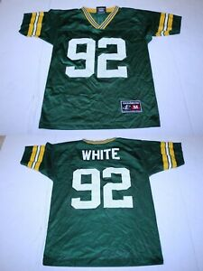 Youth Green Bay Packers Reggie White M (10/12) Vintage Jersey (Green) Logo Athle