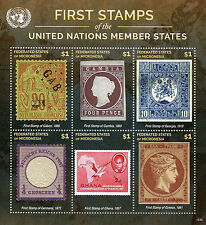 Micronesia 2015 MNH First Stamps UN United Nations Member States 6v M/S VI