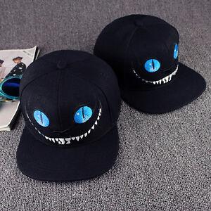 Mens Womens Snapback Hats Cheshire Cat Baseball Caps adjustable Hip Hop Cap Bboy