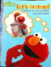Sesame Street Let's Pretend Elmo coloring-activity book w/ stickers out of print