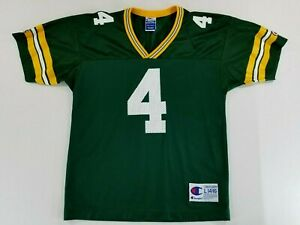 BRETT FAVRE Green Bay Packers NFL Jersey Vintage Champion Size Youth L 14-16