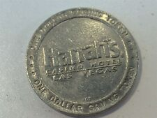 Harrah's One Dollar Gaming Token Chip - Silver Color - Las Vegas, NV Mark Twain