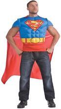 Adult Dc Comics Superman Muscle Shirt And Cape Costume Ru880530