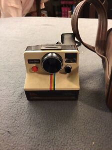 Sears Special One Step Polaroid With Brown Leather Bag