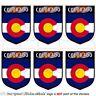 COLORADO Coloradan Shield USA America Mobile Cell Phone Mini Stickers, Decals x6