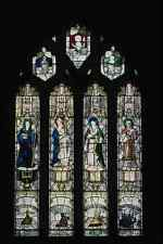 656010 Medieval Stained Glass Windows At St Neot A4 Photo Print