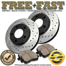 Dodge Dakota 05-09 Drill Slot Brake Disc Rotors FRONT