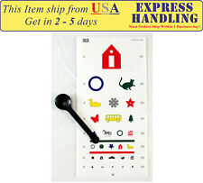 Kindergarten Color Vision Testing Chart with Occluder (Set of 2)