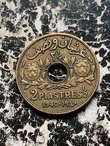 1940 Syria 2 1/2 Piastres Lot#X1517